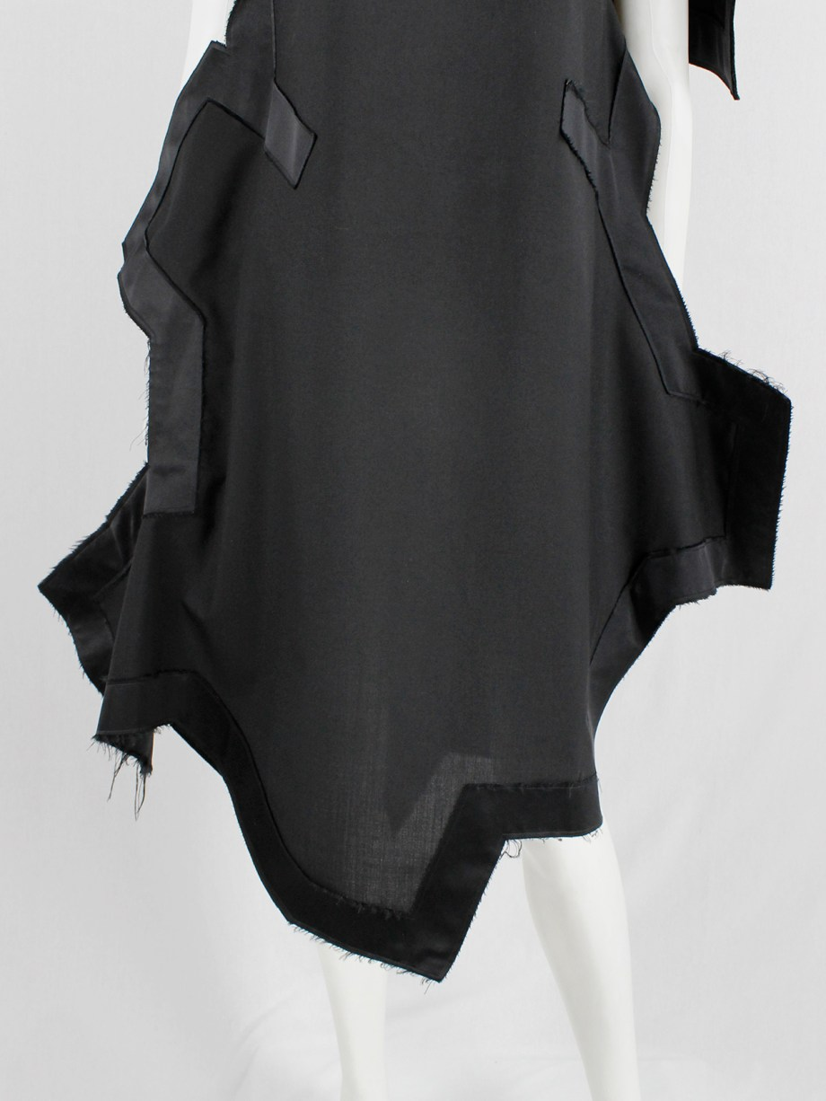 Comme des Garçons black geometric two-dimensional paperdoll dress fall 2012 (9)