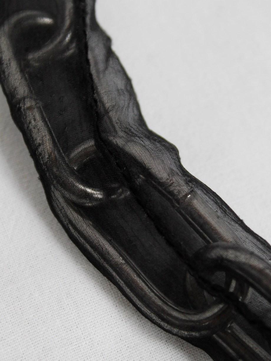 Maison Martin Margiela Artisanal chainlink necklace covered in sheer black silk — spring 2005