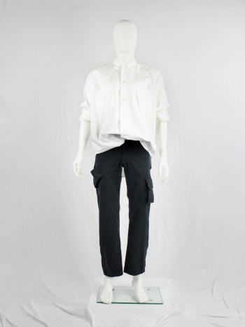 Yohji Yamamoto A.A.R black cargo trousers with pockets on the legs