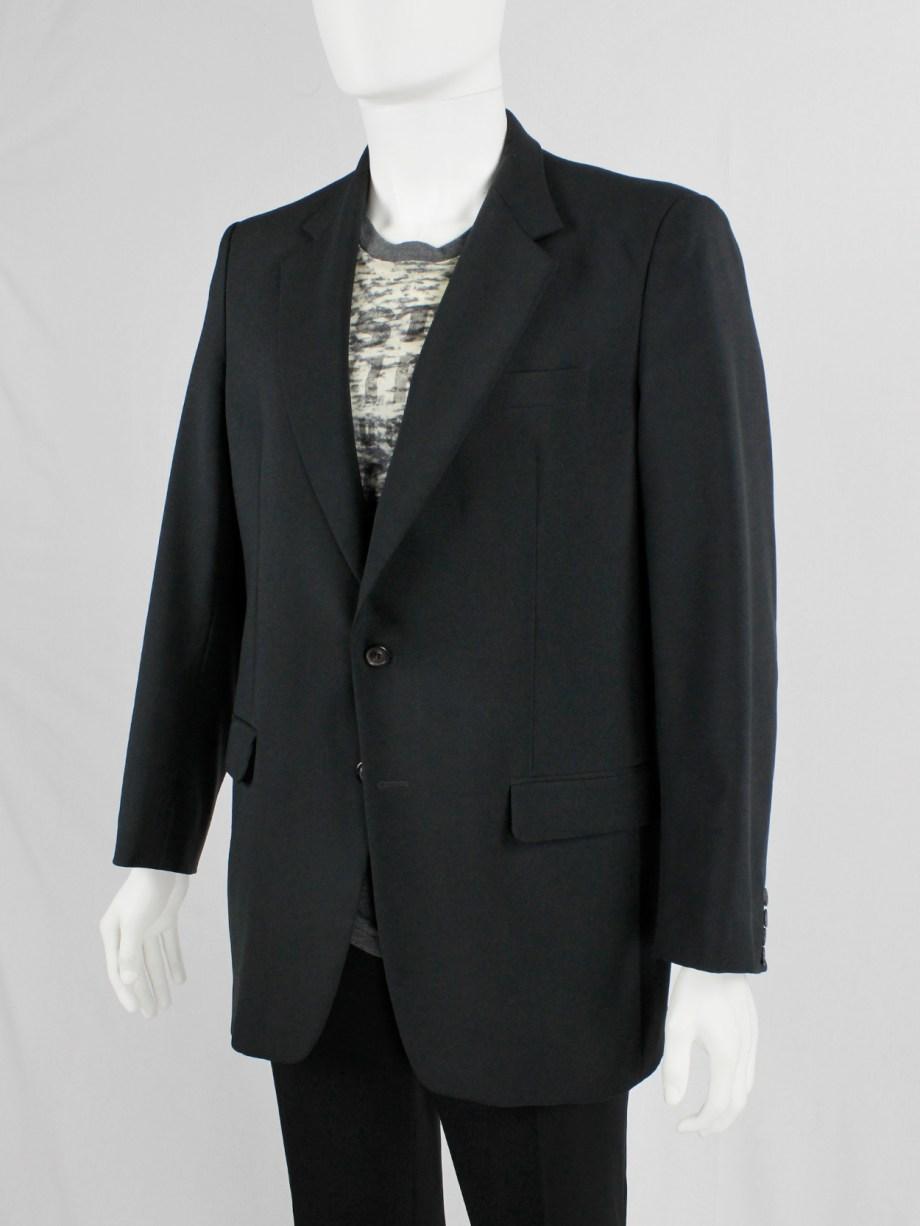 Maison Martin Margiela 10 classic black blazer with trompe-l'oeil button closure — spring 1999