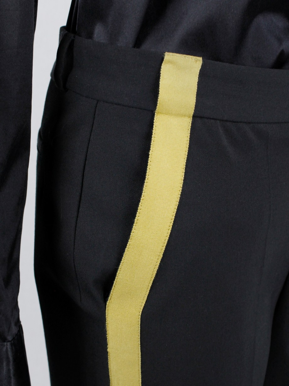 A.F. Vandevorst black Napoleonic officer's trousers with gold buttons and ropes — fall 2017 couture