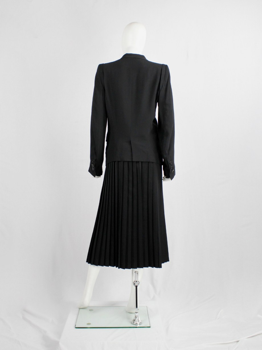 Ann Demeulemeester black classic blazer with single button closure (1)