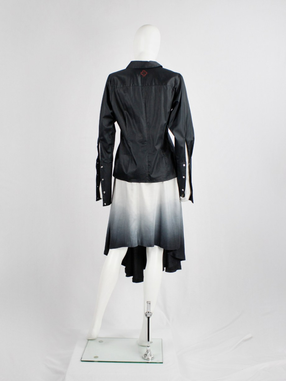 Maison Martin Margiela light pink to black ombre transformable dress spring 2003 (1)