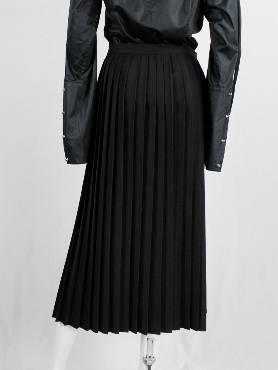Y's Yohji Yamamoto black maxi skirt with sharp accordeon pleats