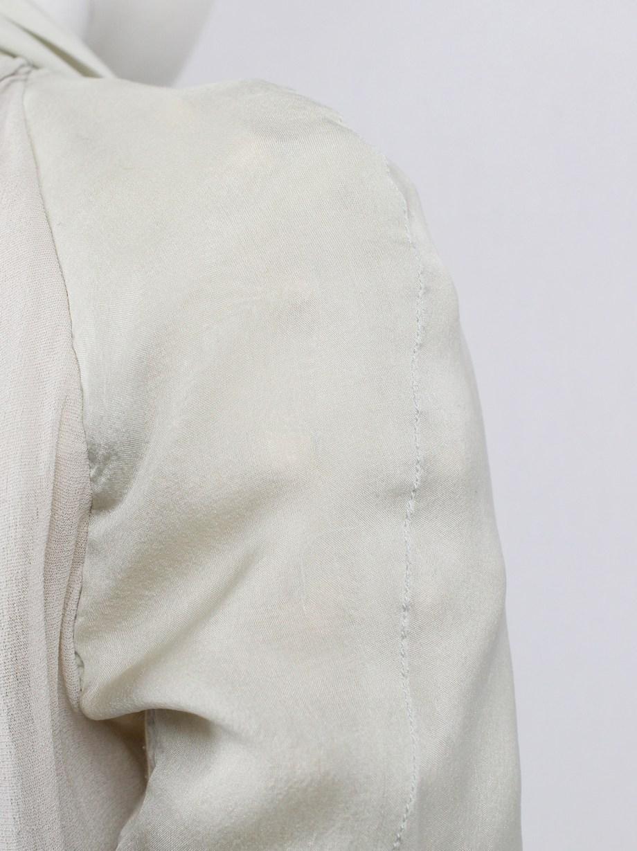 Rick Owens WISHBONE beige draped cardigan with dragon sleeves — spring 2007