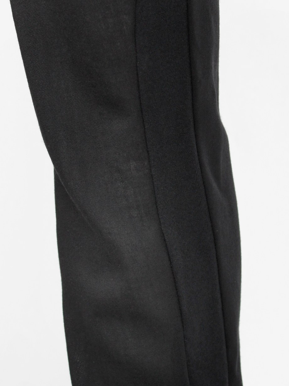 Ann Demeulemeester black harem trousers with front pleat and belt strap — fall 2010