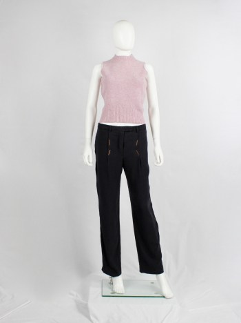 Maison Martin Margiela 6 pink top with mock turtleneck by Miss Deanna — 1990's