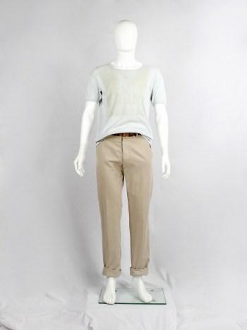Maison Martin Margiela artisanal t-shirt with trompe-l'oeil print of a jumper — fall 2004