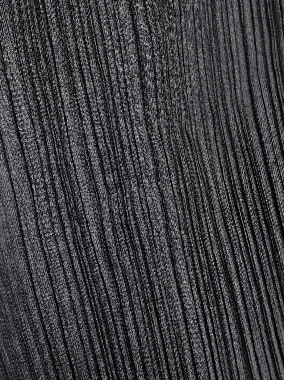 Issey Miyake Pleats Please black pleated trousers with straight legs