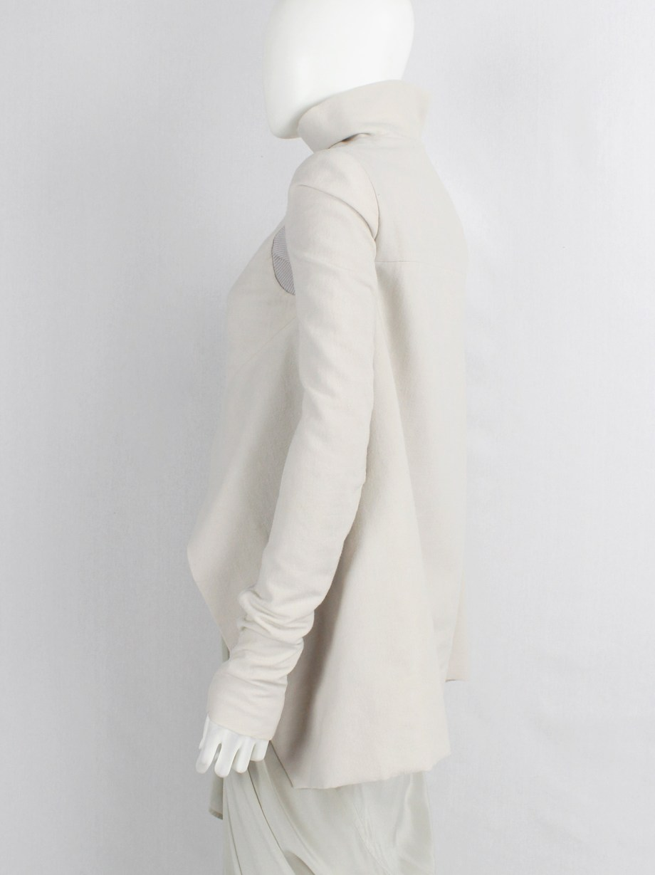 Rick Owens CRUST pearl winged jacket with curved zipper — fall 2009