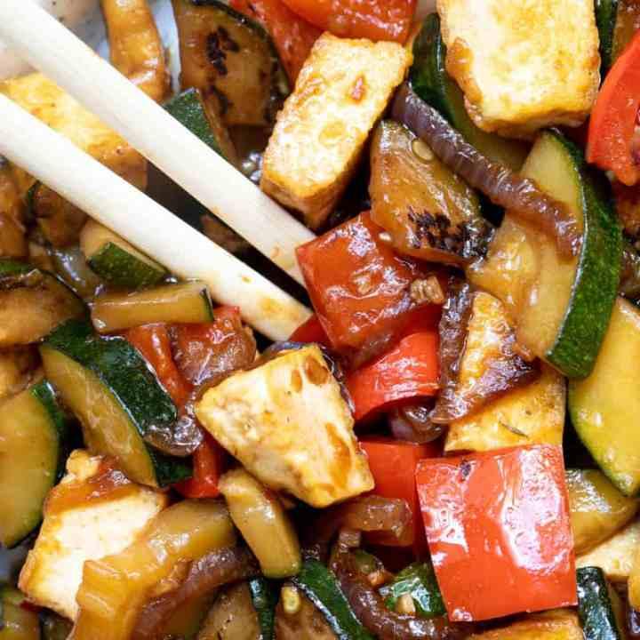 Zucchini Stir-Fry with Tofu