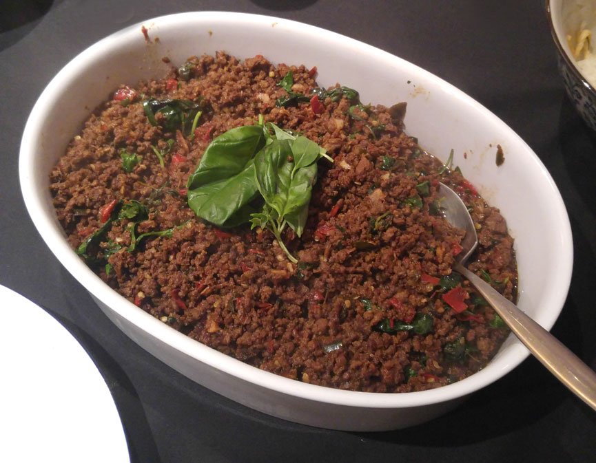 Minced Beef with Thai Basil.