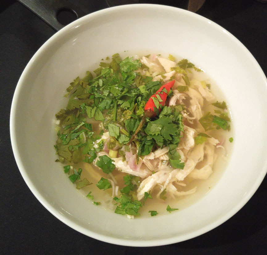 Shredded Chicken and Lemongrass Soup.