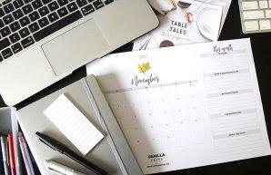 Vanilla Beige Calendar Nov 2017