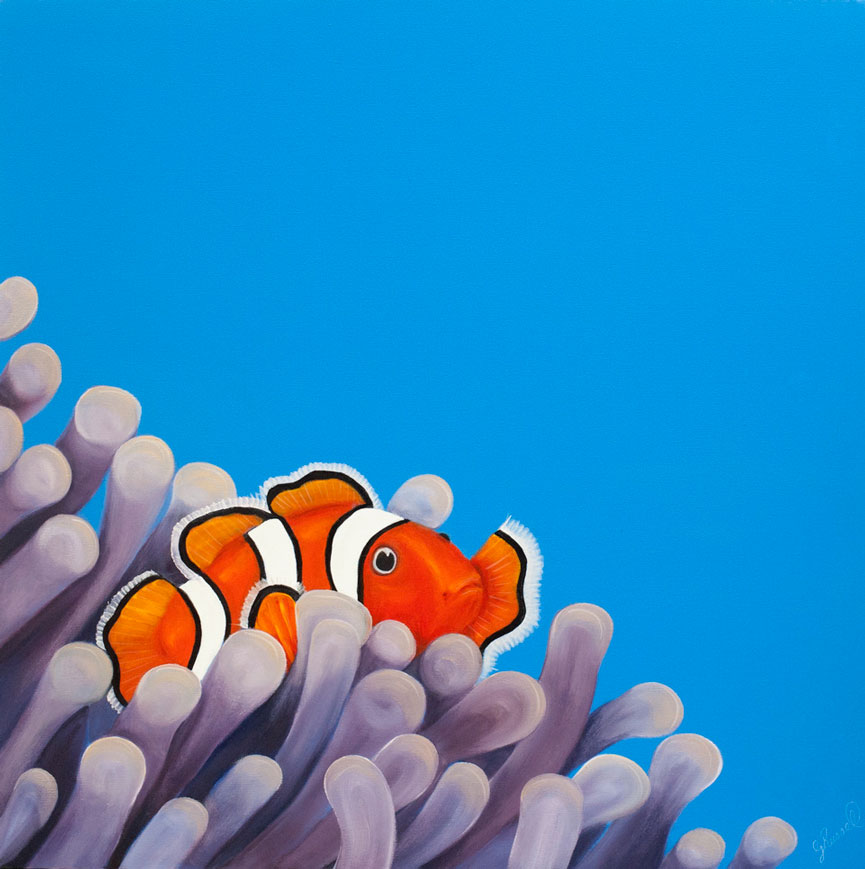 Red Brush Art Clownfish