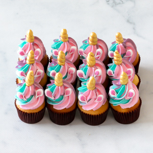 Unicorn Mini Cupcakes Vanilla Cupcakery Sydney