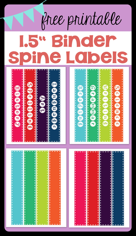 Freebie Binder Spine Labels