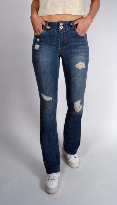 d582af13377 Light Wash 2 Button Mid-Rise Bootcut Jeans