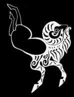 Boceto de una cabra montesa, parte del tatuaje del jefe Pazyryk.