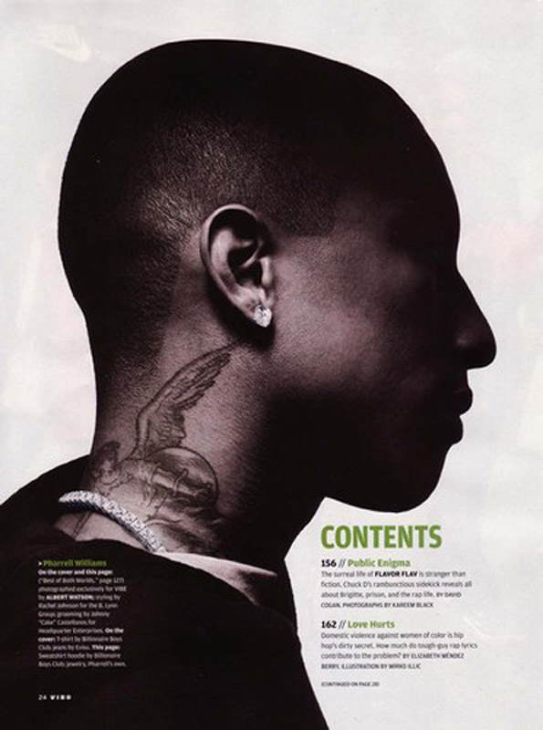 PHARRELL WILLIAMS TATTOOS PICTURES IMAGES PICS PHOTOS OF
