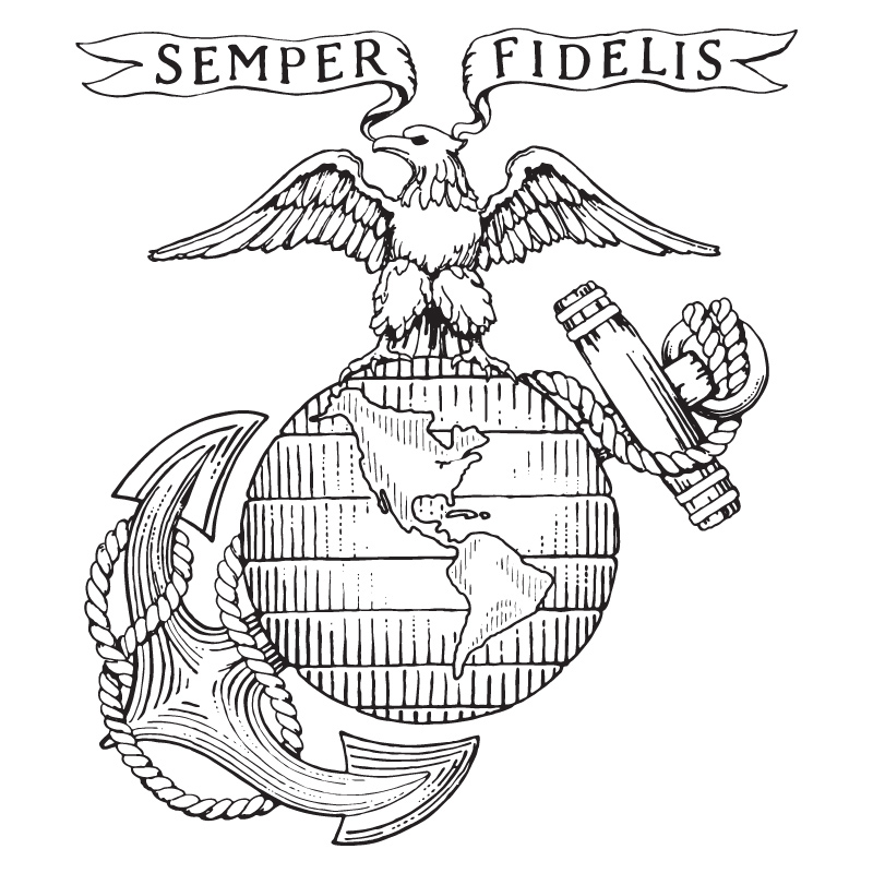 Us Marine Drawing Cake Ideas and Designs