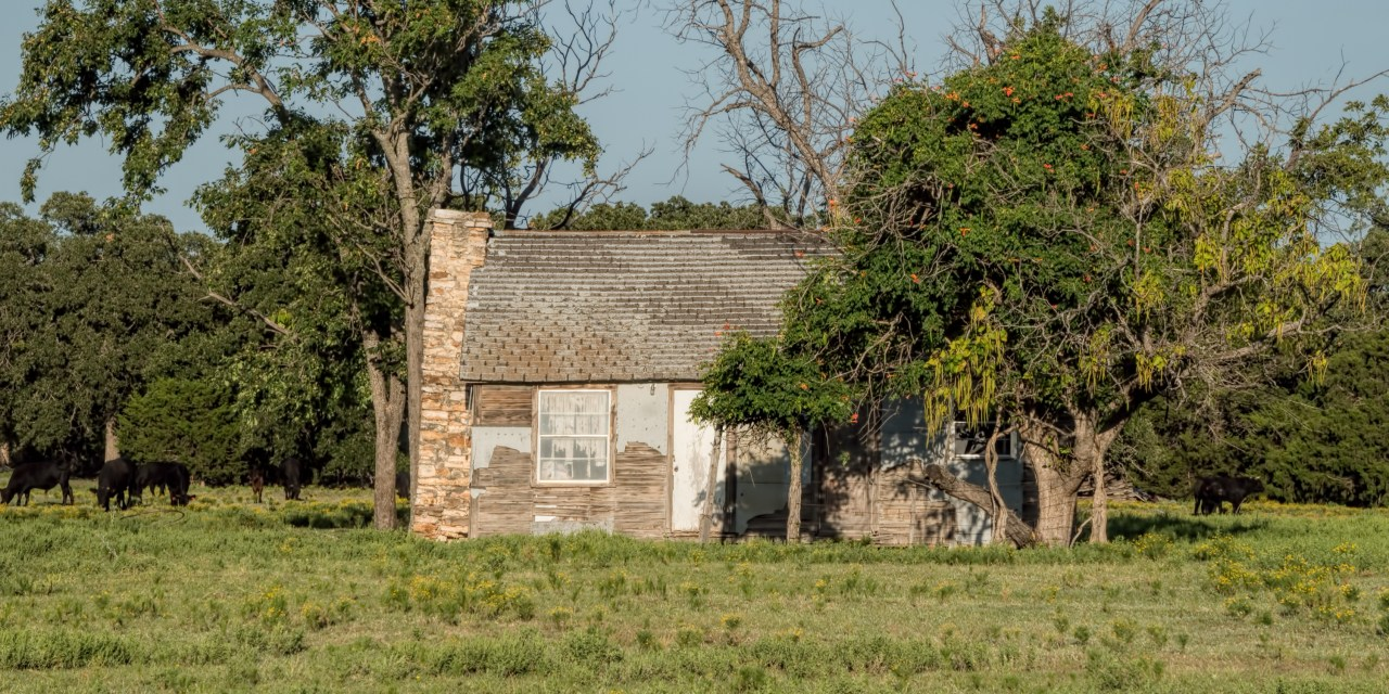 Abandoned Farm House North of St. Jo, Texas