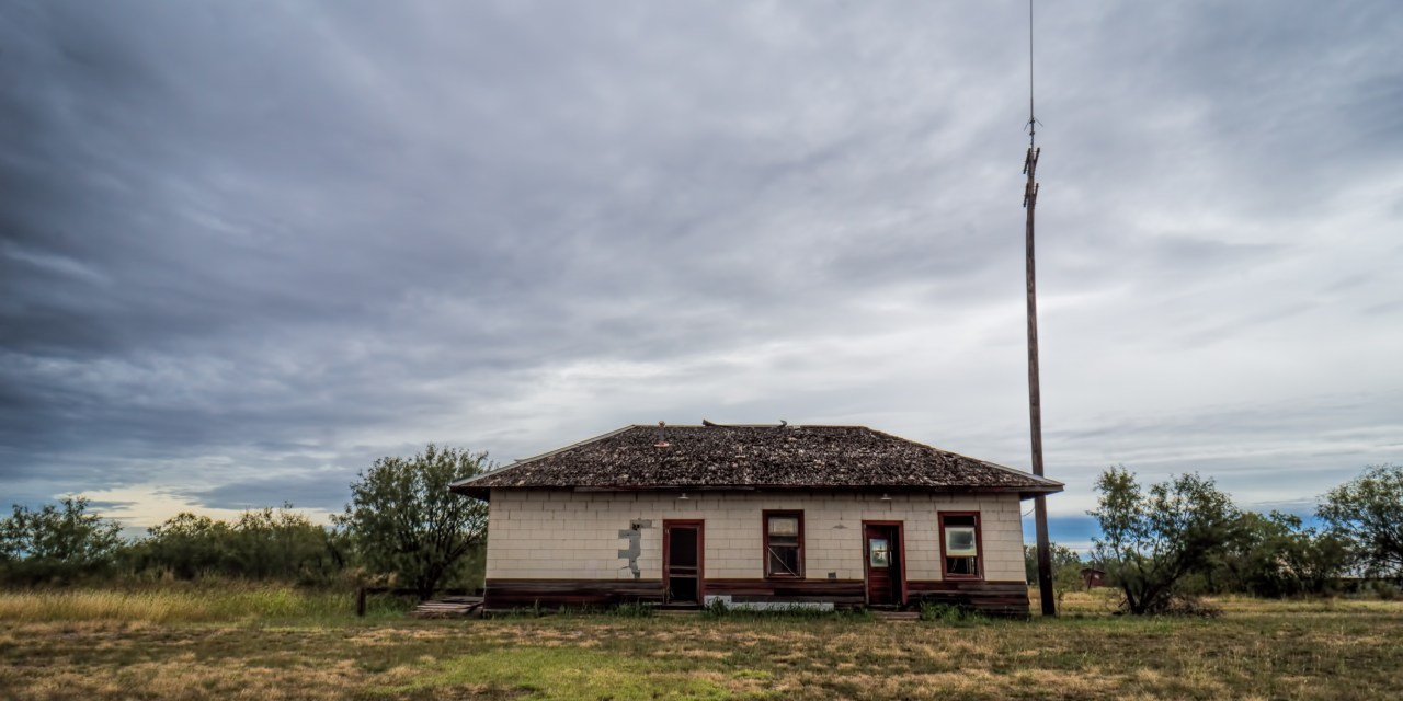 The Santa Fe Rail Depot in Hamlin, Texas