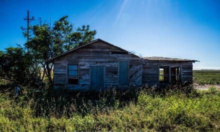A Small Abandoned Farm House South of Stamford, Texas