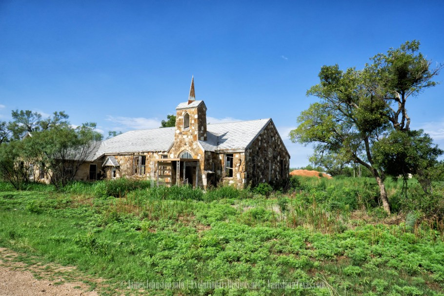 Abandoned Methodist Church in Jack County, Texas