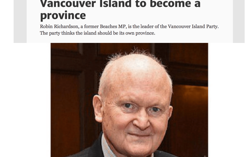Toronto Star Vancouver Island Party Article