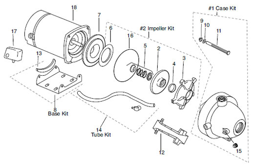 Franklin 7CY-S (3/4 HP, 115/230v) Plastic Jet Pump