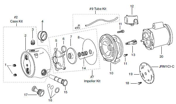 Franklin FP1C1-C (1 HP, 115/230v) PRO Convertible Jet Pump