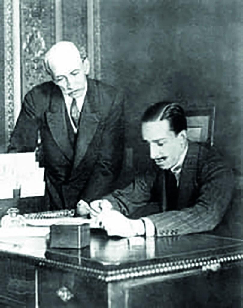 Alfonso XIII y Ministro Eduardo Dato
