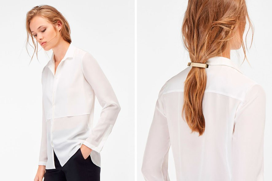 rebajas camisa blanca
