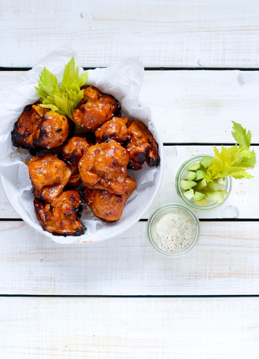 blomkåls Hot Wings