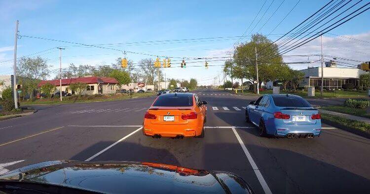 BMW M3 politie race achtervolging