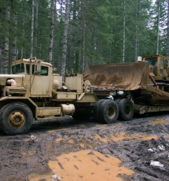 truck with lowboy [ 1200 x 803 Pixel ]