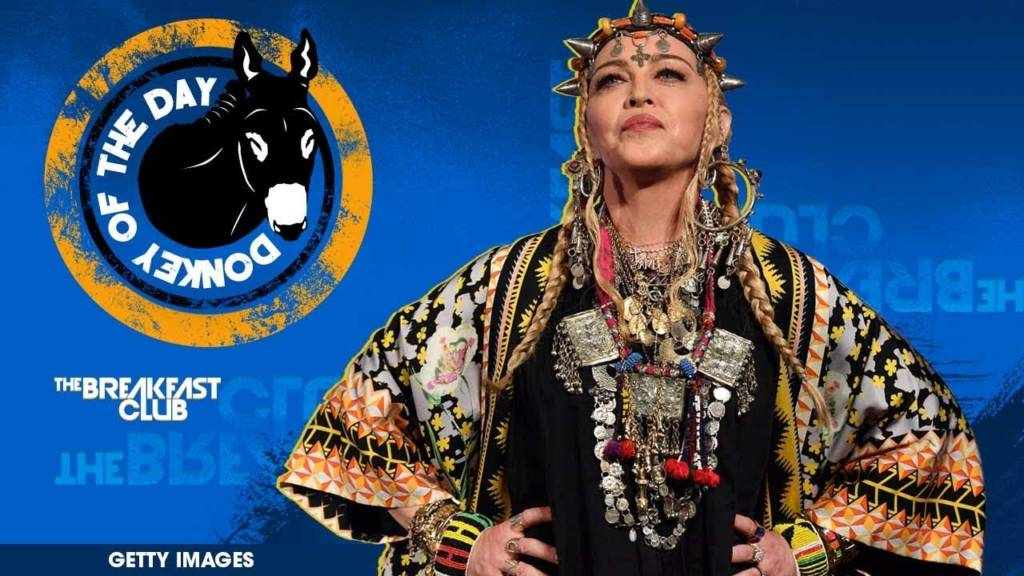 Madonna Awarded Donkey Of The Day For Giving Bizarre Self-Indulgent Tribute To Aretha Franklin At VMAs