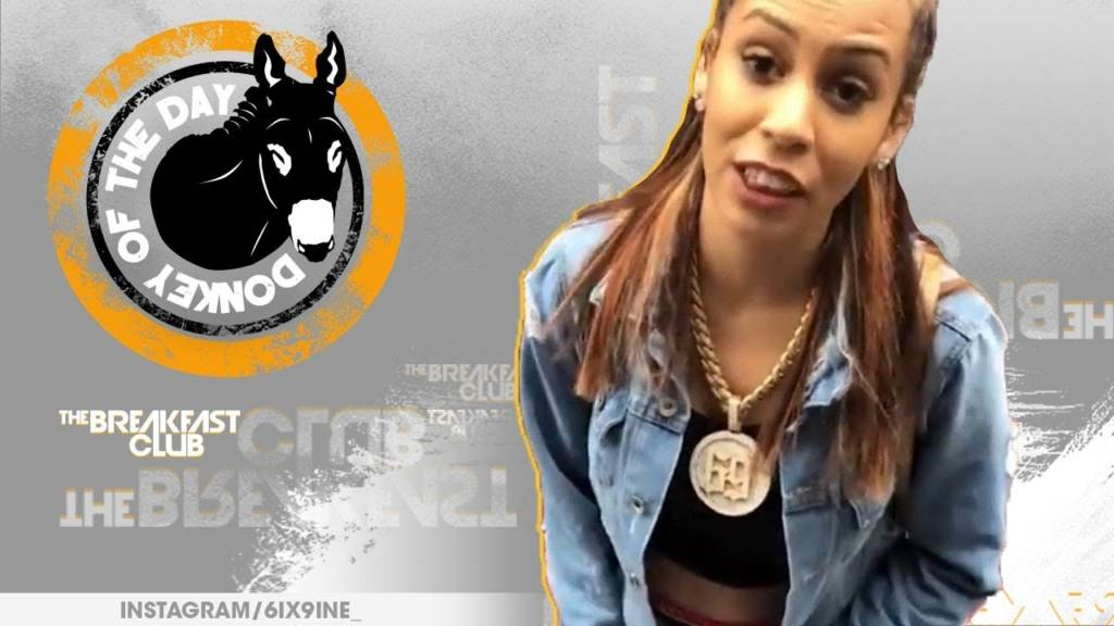 Chief Keef's Baby Mama Slim Danger Awarded Donkey Of The Day For Letting Tekashi 6ix9ine Take Her On Gucci Shopping Spree