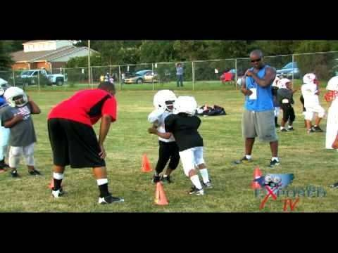 Vandem P Coaches Pop Warner Football [via @CarolinaExposed TV]