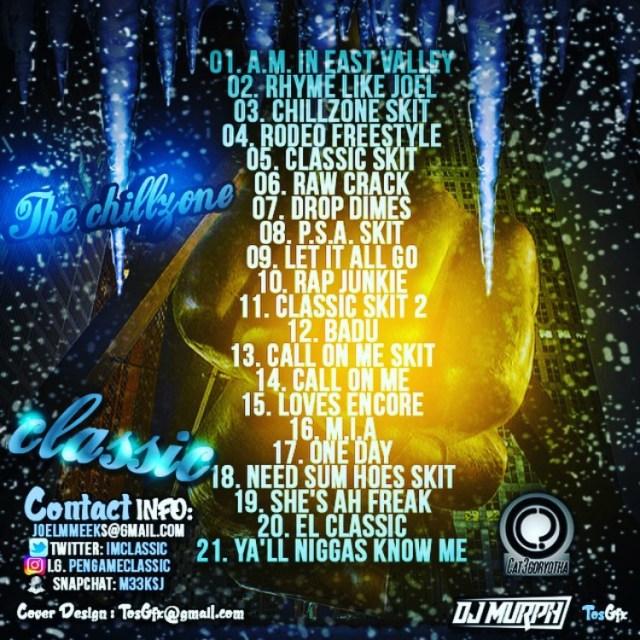 Classic - The Chillzone [Mixtape Tracklisting]