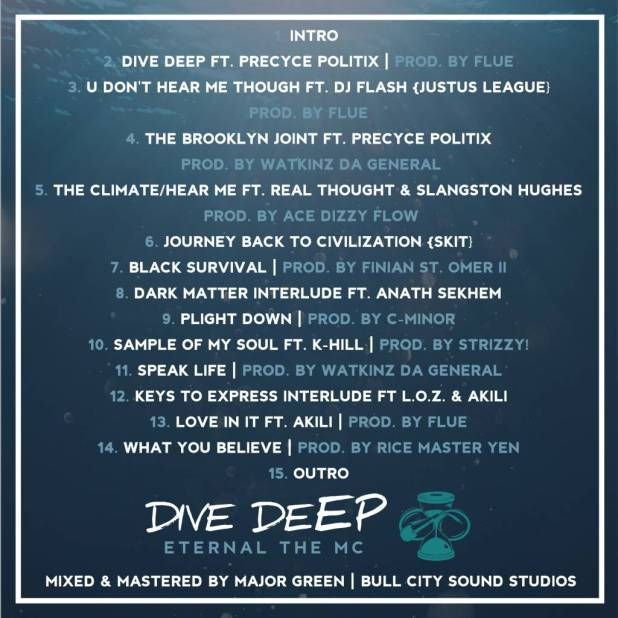 Peep The Artwork & Tracklisting For Eternal The M.C.'s Upcoming Album 'Dive DeEP' (@EternalTheMC)