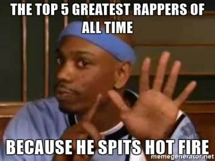My Top 5 Rappers Of All-Time
