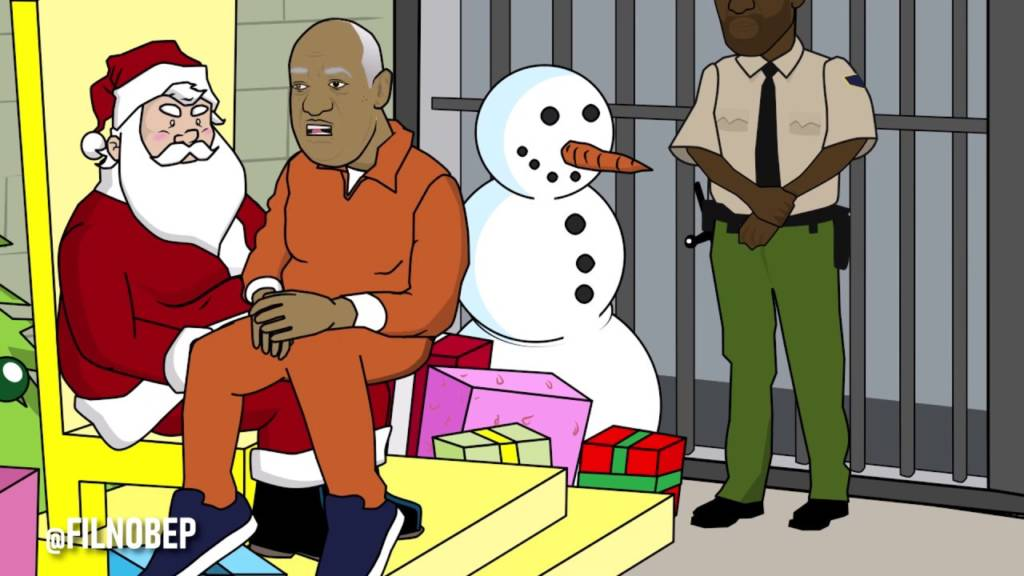 Bill Cosby Sits On Santa's Lap [Cartoon Parody]