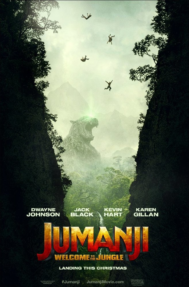 3rd International Trailer For 'Jumanji: Welcome To The Jungle' Movie Starring The Rock & Kevin Hart