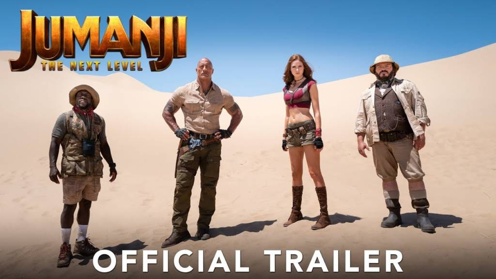 1st Trailer For 'Jumanji: The Next Level' Movie Starring The Rock & Kevin Hart