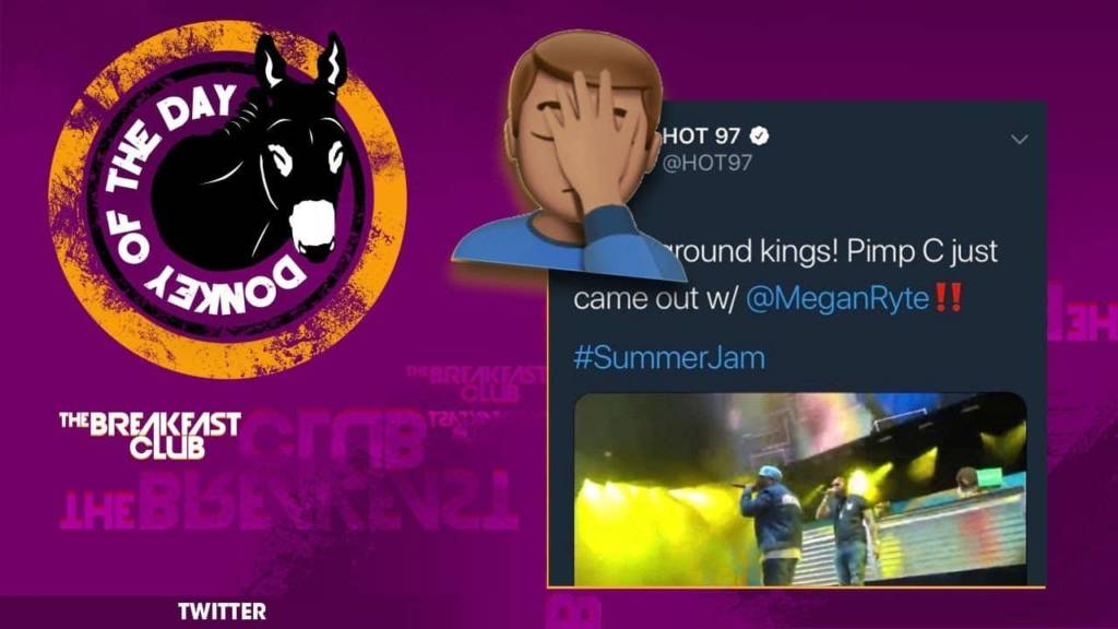 Hot 97 Awarded Donkey Of The Day For Tweeting Out 'Pimp C Is On Stage' During Summer Jam Concert