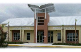 The front of Bridgewater Middle School in Orange County, Florida