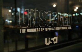 'Unsolved' logo on the window