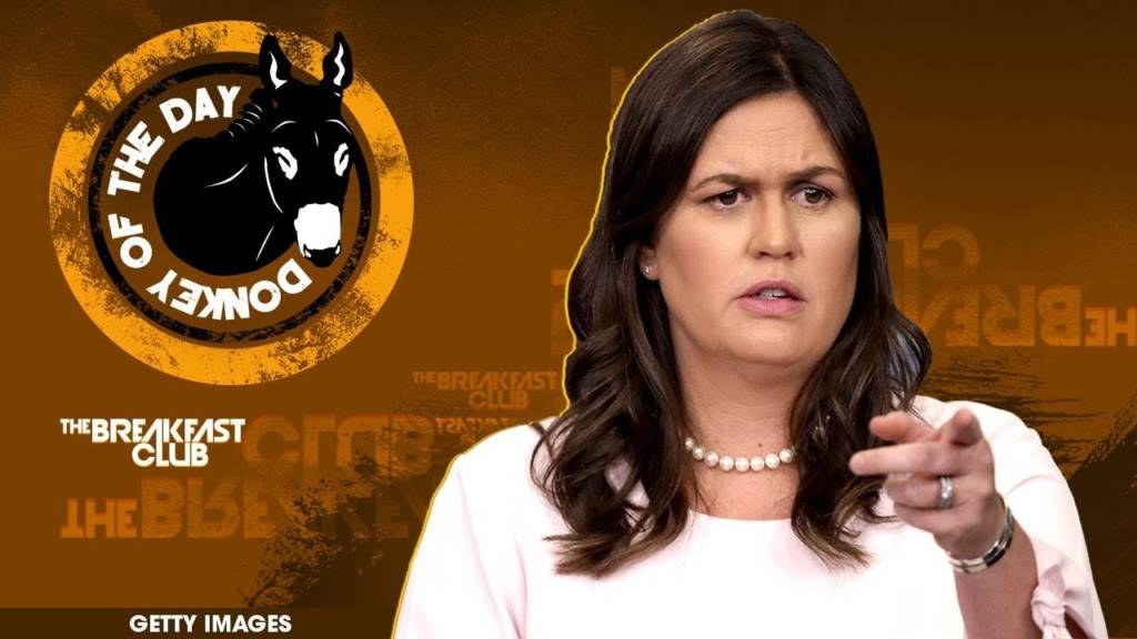 Sarah Huckabee Sanders Awarded Donkey Of The Day For Saying God Wanted Donald Trump To Become President